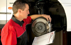 brake system inspection by Repco Authorised Car Service mechanic in Stuart Park NT 0820